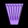 flatFilesOrganiser.stl Télécharger fichier SCAD gratuit Organiseur de mini-fichiers 6pcs • Plan à imprimer en 3D, ne100r