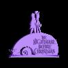 NBC_ornament.stl Download free STL file Nightmare Before Christmas Ornament • 3D printer object, CheesmondN