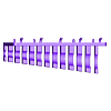 pins.stl Download free STL file Combination Spanner Set 12pcs metric 6-22mm Wall Holder 056 I for screws or peg board • 3D print design, Wiesemann1893