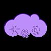 "Snow.stl Download free STL file Al Roker's ""Weather Magnets"" • 3D print design, GeneralElectric"