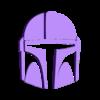 Separate_prints_Mandalorian_helmet_silver.stl Download free STL file Mandalorian helmet headphones stand • Template to 3D print, CheesmondN