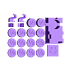 BeastBody_oneWholeSet_v2.stl Télécharger fichier STL gratuit Beast Belly : Jeu des fractions • Plan imprimable en 3D, Boastcott