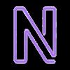 """N_x1.stl Télécharger fichier STL Panneau """"Ouvert"""" EL WIRE • Plan pour imprimante 3D, DiGave"""