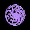 house_targaryen.stl Télécharger fichier STL gratuit Maison Targaryen Sigil • Objet pour impression 3D, Yipham