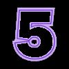 5.stl Télécharger fichier STL Numéros des moules à biscuits • Plan imprimable en 3D, Ushuaia3D