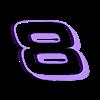8_BLACK.stl Télécharger fichier STL gratuit DALE EARNHARDT JR. #8 • Design pour impression 3D, GREGCAR_3DPrinting