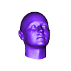 face.stl Download free STL file face • Object to 3D print, omid2