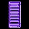 18650_8P_base_V2_Vented.stl Télécharger fichier STL gratuit NESE, le module V2 sans soudure 18650 (VENTED) • Objet pour imprimante 3D, 18650
