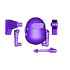 LEO_body_and_limbs_toPrint_1_21_14.stl Download free STL file LEO • Model to 3D print, leothemakerprince