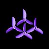 RHR-25_tri_V6_4pack.stl Télécharger fichier STL gratuit RHR-25 Hélice pour quadricoptère de 2,5 po • Modèle pour impression 3D, Gophy