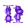 cow split.stl Download free STL file Animal Crossing Cow • 3D print object, skelei