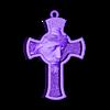 Jesus Cross pendant medallion jewelry.stl Download free STL file Jesus Cross pendant medallion jewelry 3D print model • 3D printable object, Cadagency