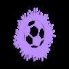 soccer ball splat.stl Download STL file wall decor soccer ball splat • 3D printable model, satis3d