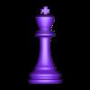 rey.STL Télécharger fichier STL gratuit échecs complets • Plan pour imprimante 3D, montenegromateo111
