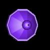 LH_hexa_dome_fixed_blau.stl Télécharger fichier STL gratuit Phare • Modèle pour impression 3D, jteix