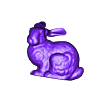 Stanford_bunny_resting_on_a_pillow__bunny_-_no_supports_.stl Download free STL file Stanford bunny resting on a pillow • Template to 3D print, CreativeTools