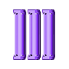 Set_14500_Mx3_Sep.stl Download free STL file Battery holder for 3x 14500, AA • 3D printer template, SiberK