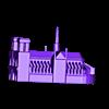 notredameparis.stl Télécharger fichier STL gratuit Bâtiments célèbres de paris • Design pour imprimante 3D, leFabShop