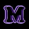 M.stl Download STL file sharp letters Cooper Black • 3D printing model, juanchininaiara