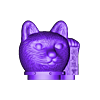 cat_head.stl Download free STL file Maneki-neko De-Capicat Head • 3D printing template, luisdamed