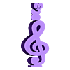 Music_headphone_stand_top.stl Télécharger fichier STL gratuit Support pour écouteurs de musique • Plan à imprimer en 3D, CheesmondN