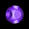 mushroom_dual_b.stl Download free STL file Super Mario Mushroom 1UP Hanger (Dual & Modular Single Extrusion) • 3D printable design, Runstone