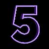 5.STL Télécharger fichier STL gratuit Lot de 10 moules à biscuits numérotés • Design à imprimer en 3D, icepro10