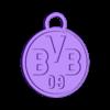 Base.stl Download free STL file BVB ornament, fan deko • Template to 3D print, TimBauer-TB3Dprint