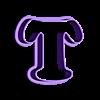 T.stl Download STL file sharp letters Cooper Black • 3D printing model, juanchininaiara