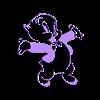 PorkyWall.stl Descargar archivo STL Porky 2D for Wall • Modelo imprimible en 3D, miguelonmex