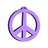 oreillles_peacelove_medium.stl Download free STL file Earrings peace & love • Design to 3D print, objets3d