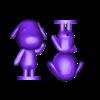 goldie split.stl Download free STL file Goldie Animal Crossing • Template to 3D print, skelei