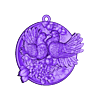 Doves pendant medallion jewelry.stl Download free OBJ file Doves pendant medallion jewelry 3D print model • 3D print object, Cadagency