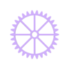 Wall Gears V2 Large Gear (shell).stl Download STL file Wall Gears V2  • 3D print template, SPEKERDUDE