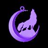 wolf2.stl Download free STL file wolf + moon keychain • Model to 3D print, shuranikishin