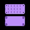 Feather-lego-studs.stl Download free STL file Neon Neopixel Strip Lego • 3D printable template, Adafruit