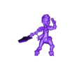 barbarian_charge.OBJ Download free OBJ file [Free] Girl Barbarian • 3D print template, warpentak