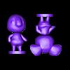 alice_split.stl Download free STL file Alice - Animal Crossing • 3D printable template, skelei