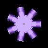 CylinderBlock_7cylinder_unsect.stl Télécharger fichier STL gratuit Modèle de moteur radial à 7 cylindres • Design pour imprimante 3D, MinMunchKin