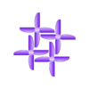 RHR-25_V5_4pack.stl Télécharger fichier STL gratuit RHR-25 Hélice pour quadricoptère de 2,5 po • Modèle pour impression 3D, Gophy
