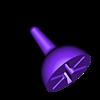 Coin_Top_Threeway_B.stl Télécharger fichier STL gratuit Toupie pièce • Modèle imprimable en 3D, 3DBROOKLYN