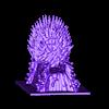 flakes.stl Télécharger fichier STL gratuit Throne • Modèle pour impression 3D, Revenant