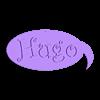 hugo.stl Download free STL file BUBBLE-SHAPED LABEL BD. FOR HUGO DECORATION • Model to 3D print, papounet1951