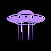 meUfo.stl Descargar archivo STL gratis OVNI 2D para la pared • Objeto para imprimir en 3D, miguelonmex