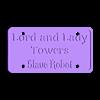 licenceplate_20160422-2383-1rvsa7q-0.stl Télécharger fichier STL gratuit Lord et Lady Towers signe un robot esclave • Plan imprimable en 3D, cube606592