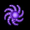 Octopus_v5.5_spiral_support_fixed.stl Télécharger fichier STL gratuit Jolie pieuvre miniature • Modèle pour imprimante 3D, jaumecomasfez