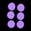 Mini_Bases_symbols_part1.stl Télécharger fichier STL gratuit Bases Collection _Symboles • Design à imprimer en 3D, 3D-mon