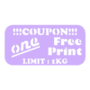 Free_Print_Coupon.STL Download free STL file 1 Free Print Coupon • Model to 3D print, 3D_Cre8or