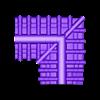 Roof For Corner Wall Large.stl Download STL file Modular Magnetic Japanese Gate • 3D print model, HyperMiniatures