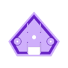 Steven Universe Diamond-BASE.STL Download STL file LED SPINELS HEART & DIAMOND GEM STEVEN UNIVERSE WEARABLE GLOW LIGHT UP CRYSTAL PROP , COSPLAY, COSTUME, HALLOWEEN • Template to 3D print, mechengineermike